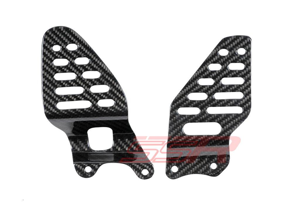 2006 2007 2008 2009 2010 2011 2012 2013 2014 2015 2016 2017 Yamaha R6 100% Twill Carbon Fiber Heel Foot Guard Plates