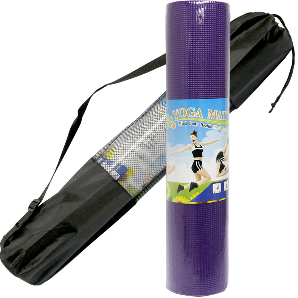healthyu antideslizante esterilla de yoga con bolsa de ...