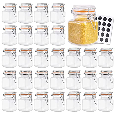 Amazon.com: Tarros de vidrio Betrome de 4 onzas con tapa de ...