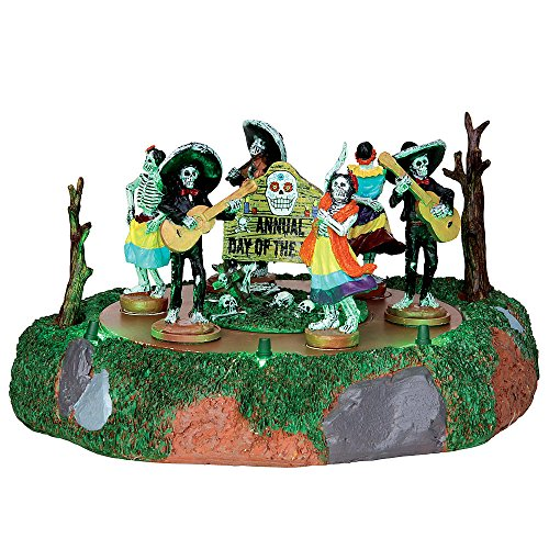 HALLOWEEN LEXMAR SPOOKY TOWN COLLECTION ANIMATED DAY OF THE DEAD PARADE 4.8