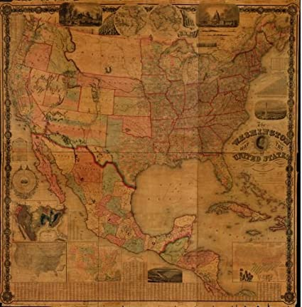 Us Map In 1861.Amazon Com 1861 Map The Washington Map Of The United States Size