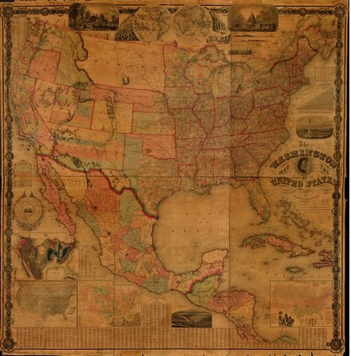 Amazon.com: 1861 Map The Washington map of the United States. - Size ...