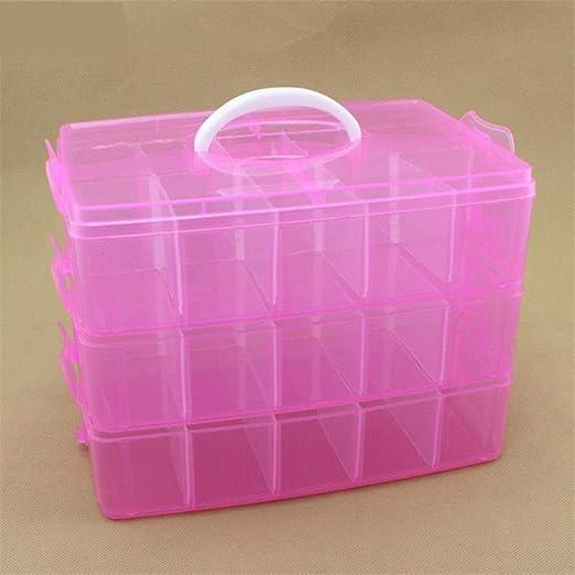 SGAHEIWI Caja de Almacenamiento de plástico Transparente Caja de ...