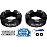 "Supreme Suspensions - Toyota Tacoma Leveling Kit 2"" Front Lift Aircraft Billet Strut Spacers (Black)"