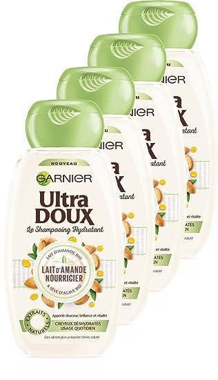Garnier Ultra Doux shampoing Hydratant leche de almendra nourricier 250 ml - juego de 4: Amazon.es: Belleza