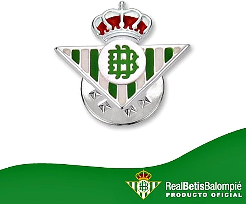 Pin escudo Real Betis plata de ley esmaltado [8627] - Modelo: 50 ...