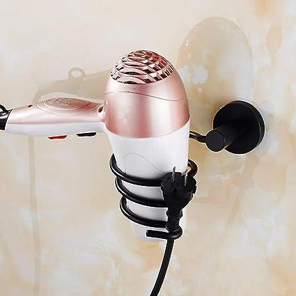YSJ Baño de Estilo Europeo con Forma de Espiral, secador de Pelo Negro, tecnología