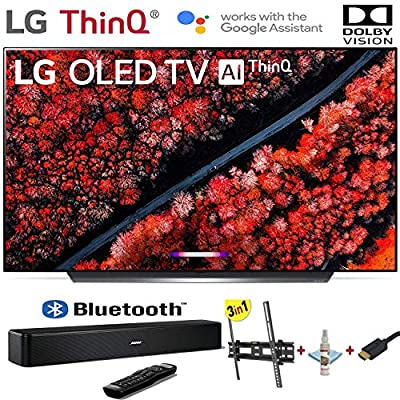 """LG Electronics OLED65C9PUA C9 Series 65"""" 4K Ultra HD Smart OLED TV (2019) w/Bose Solo 5 TV Sound System w/3 in 1 Wall Mount kit- Wall Mount, HDMI Cable, TV Cleaning Kit - LG Authorized Dealer"""