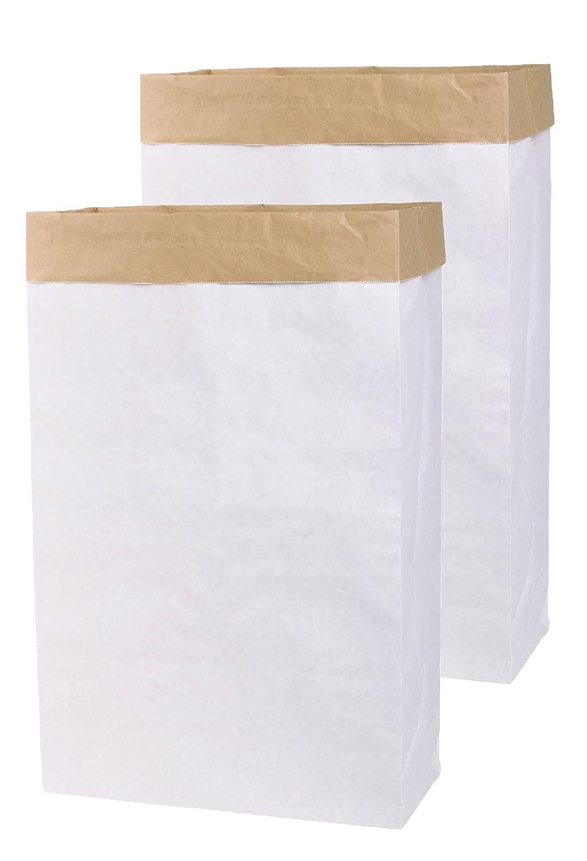 00ee52a82bab56 2x DIY Papiersack Paperbag eckig aus Kraftpapier Braun Wei ß Blanko  (2 )  Hoffs Lifestyle GmbH
