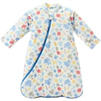 SODIAL Unisex Baby Sleepsack Wearable Blanket Cotton Sleeping Bag Long Sleeve Nest Nightgowns Thickened Winter Robot/3.5 Tog L