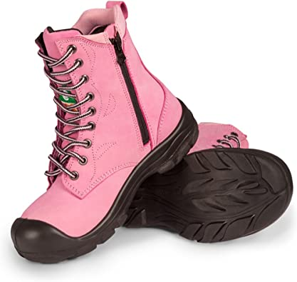 Steel Toe Work Boots   Pink