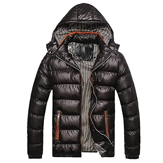 Men's Clothing Jackets & Coats Plus Size Mens Hooded Parkas Thick Cotton Coat Solid Color Casual Cotton Padded Down Jacket For Autumn Winter Warm Outerwear Goods Of Every Description Are Available