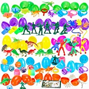 Sizonjoy 100 Pack Filled Easter Eggs with Toys,Bright Colorful Prefilled Plastic Surprise Eggs-Perfect for Kids Easter Egg H
