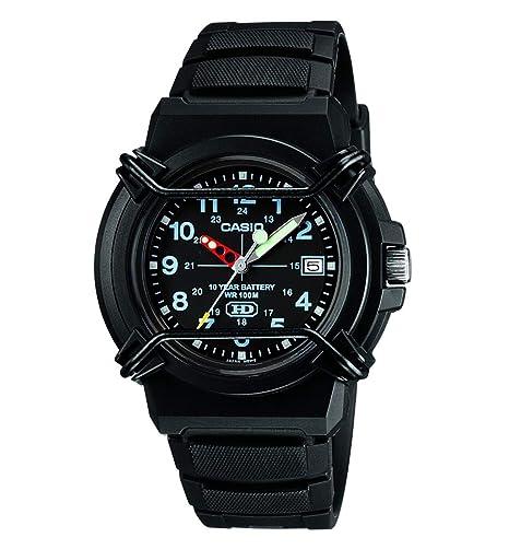 8b14815eacdd Casio Reloj Analógico para Hombre de Cuarzo con Correa en Resina  HDA-600B-1BVEF  Amazon.es  Relojes