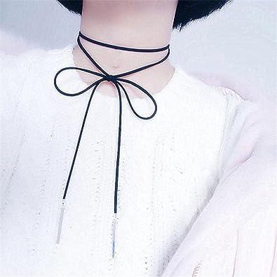 collier ras de cou ruban noir