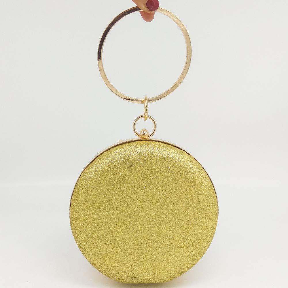CaoDquan Aftonväska dambollformad kuvertväska handväska kvällsfest väska balväska messenger axel damhandväskor (färg: Guld) Guld
