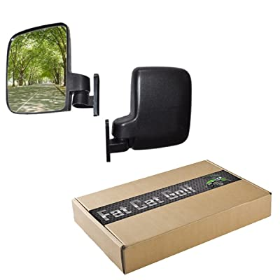 Golf Cart Side Mirrors 1 Pair 2 Mirrors Fits E-Z-GO Club Car Yamaha TXT DS Drive G22 Precedent: Sports & Outdoors