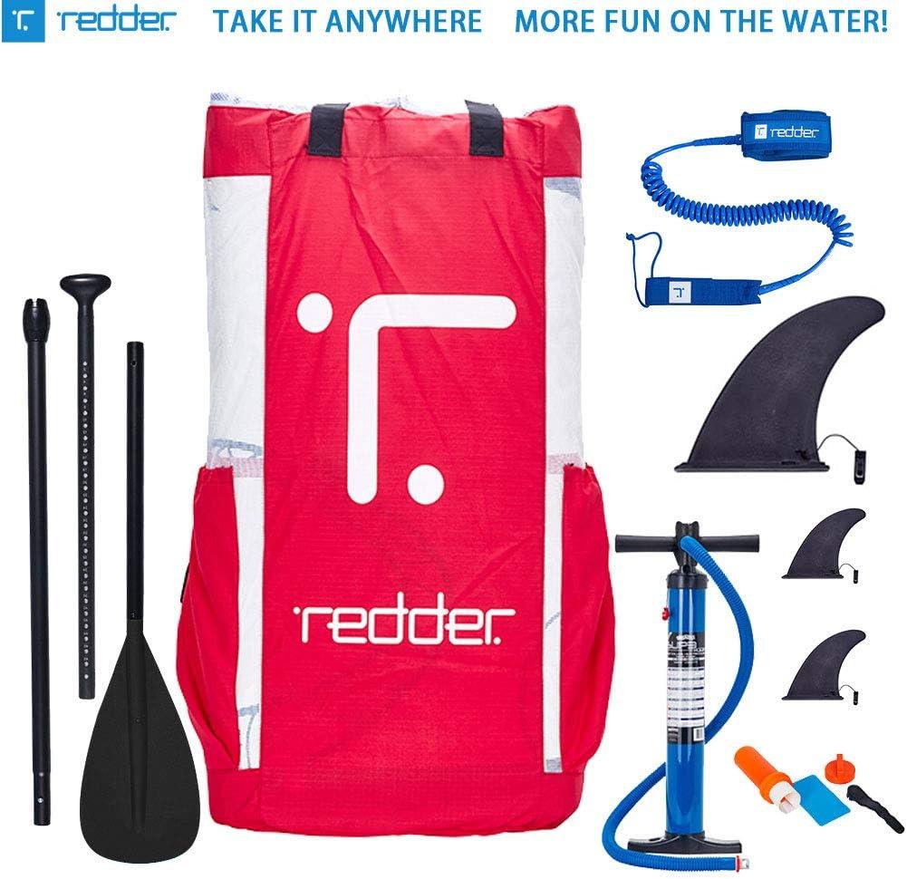 10 Sicherungsleine redder Aufblasbares Stand Up Paddling Board Vortex All Round ISUP Mit Hockdruck Handpumpe Tasche und Reparaturset 3-teiliges Paddel Mehrfache Farbe