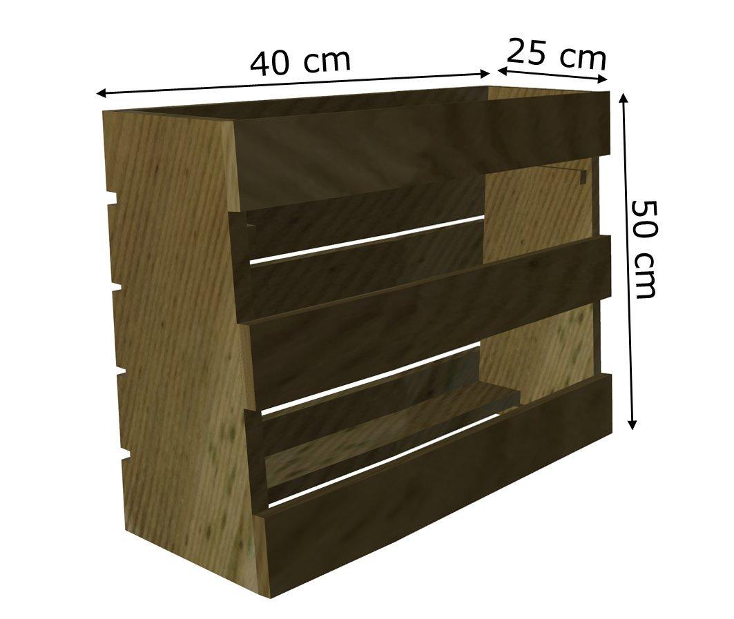 AD servicios Huerto Urbano Vertical 40x25x50 cm con Tres ...
