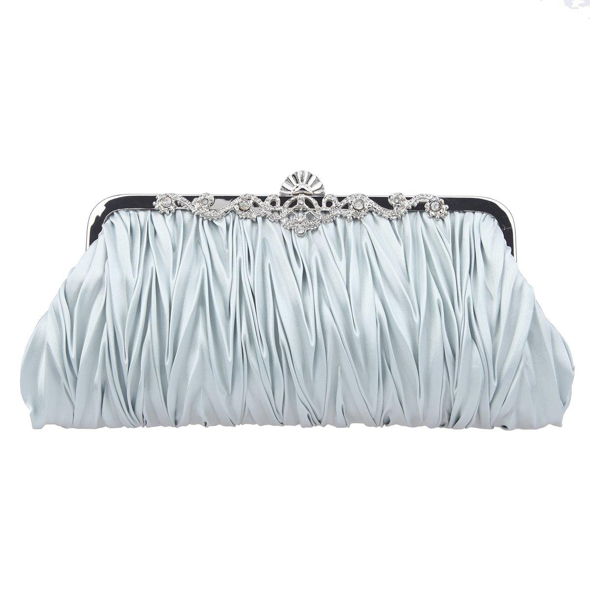 Fawziya Whole Sequins Fashion Ladies Evening Bags-Silver