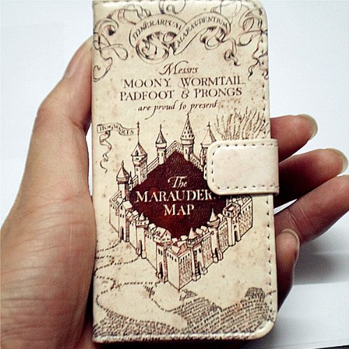 Harry Potter – Marauder's Map Wallet Case For Apple iPhone 4 4s