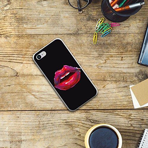 iPhone 8 Hülle, WoowCase Handyhülle Silikon für [ iPhone 8 ] Sexy Lippen Handytasche Handy Cover Case Schutzhülle Flexible TPU - Transparent