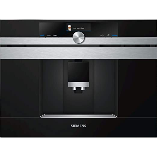 Siemens CT636LES6 Cafetera integrable, 19 bares negro, inox h.connect