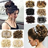 #8: Lelinta Hair Bun Extensions Donut Hair Chignons Wig Scrunchy Scrunchie Updo Hairpiece
