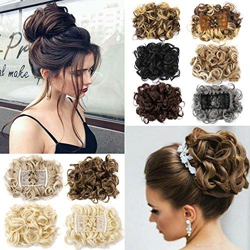 Hair Bun Extensions Donut Hair Chignons Wig Scrunchy Scrunchie Updo Hairpiece