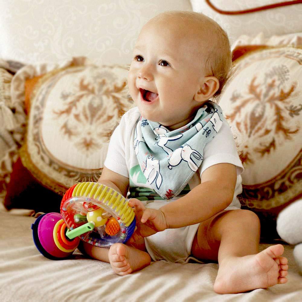 Lekebaby Baby Dreieckstuch L/ätzchen 8er Saugf/ähig Weich Spucktuch L/ätzchen Baumwolle Halst/ücher mit Druckkn/öpfen f/ür Baby Jungen und M/ädchen Kleinkinder