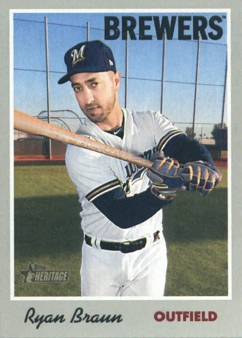Baseball MLB 2019 Topps Heritage #111 Ryan Braun #111 NM Near Mint Brewers