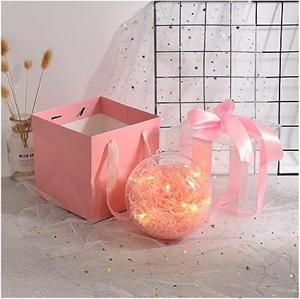 Caja de regalo de bola de cristal de bola transparente, caja de regalo esférica, caja de regalo de caja vacía, caja de regalo creativa@15 * 15 * 15 cm_A4: Amazon.es: Oficina y papelería