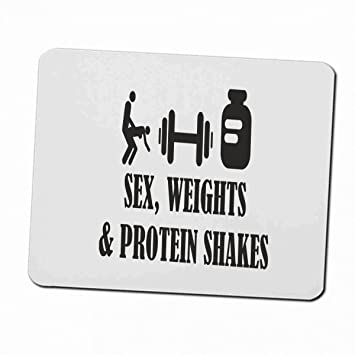 Klebemonster24 Mousepad Mousepad Sex Weight Protein Shakes