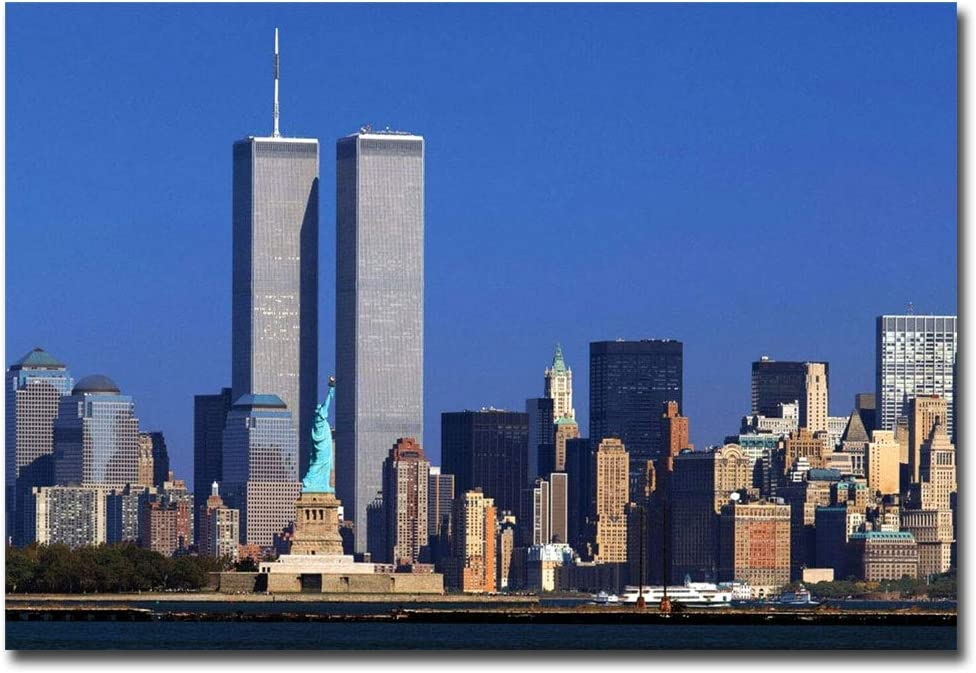 Amazon Com World Trade Center Twin Towers Statue Of Liberty Nyc Refrigerator Magnet Size 2 5 X 3 5 Kitchen Dining