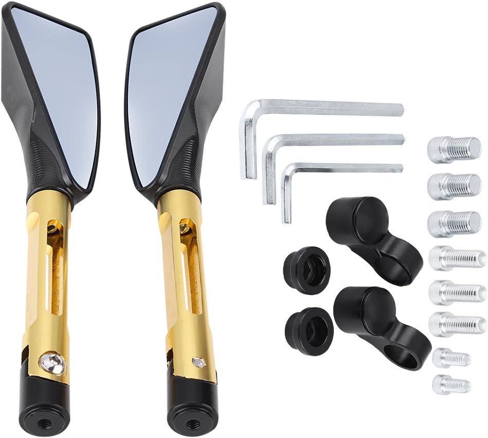 Gelb EBTOOLS 1 Paar Motorrad CNC Aluminium R/ückspiegel Spiegel 8mm 10mm Universal