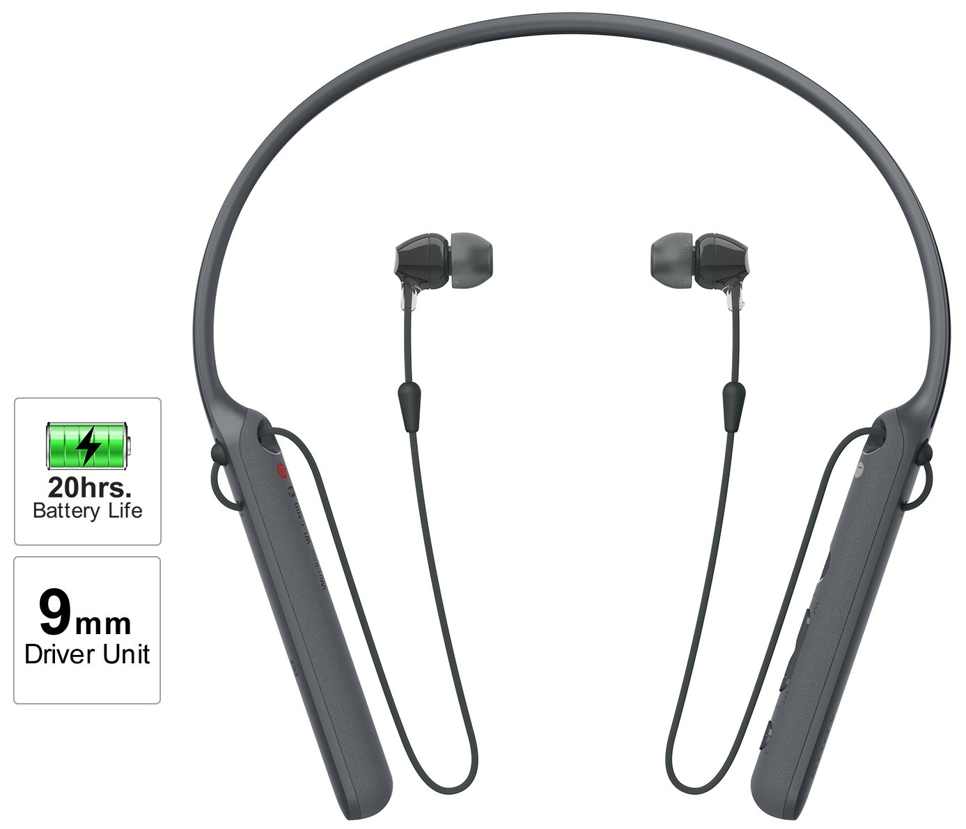 Sony C400 Wireless Behind Neck In Ear Headphone Black Lithium Ion 8211 Polymer Usb Battery Charger By Max1811 Electronics
