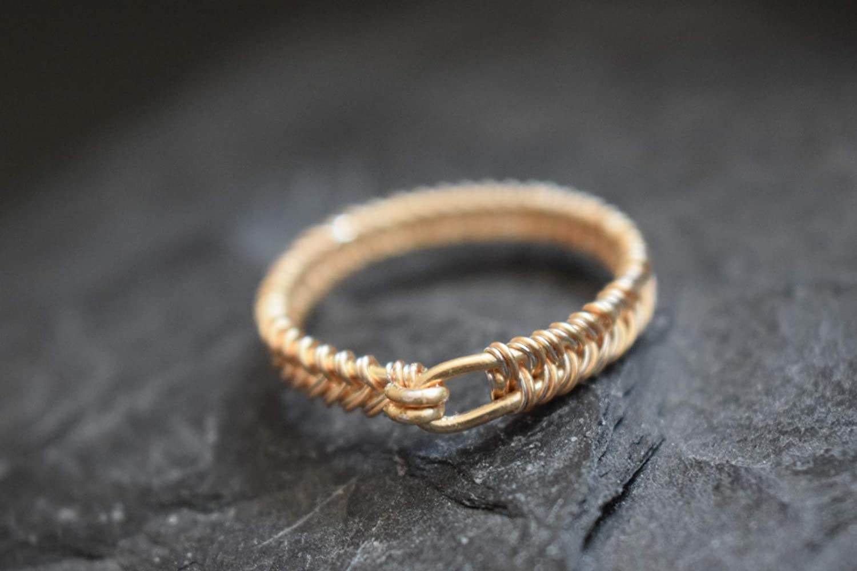 Ring Fingerring geflochten gewickelt Wikinger Schmuck