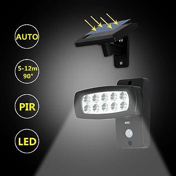 OUBO LED Solarleuchten Mit Bewegungsmelder Aussenleuchte 2 Modi,  Aussenlampe Mit Sensor, Für Garten,