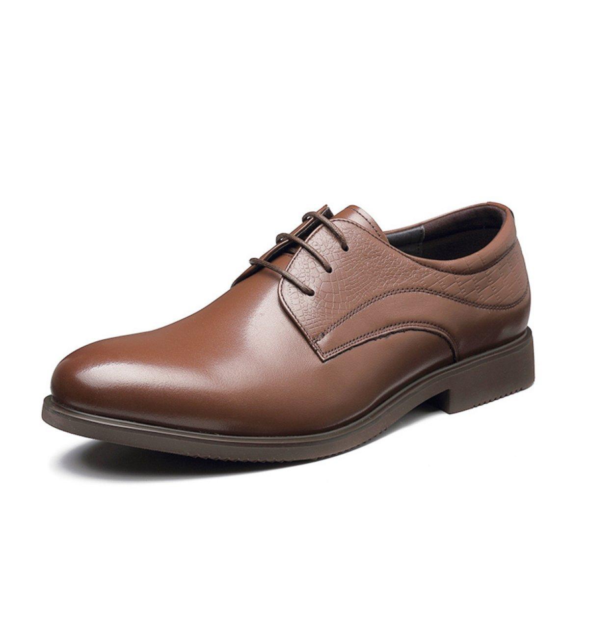 Gran Oficina Ocasional Cuero De Los Hombres Está Tremendamente Equipado Con Zapatos De Cuero 38 Brown