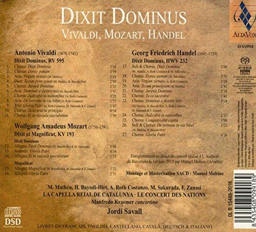 Dixit Dominu: Jordi Savall, La capella Reial de Catalunya: Amazon.es: Música