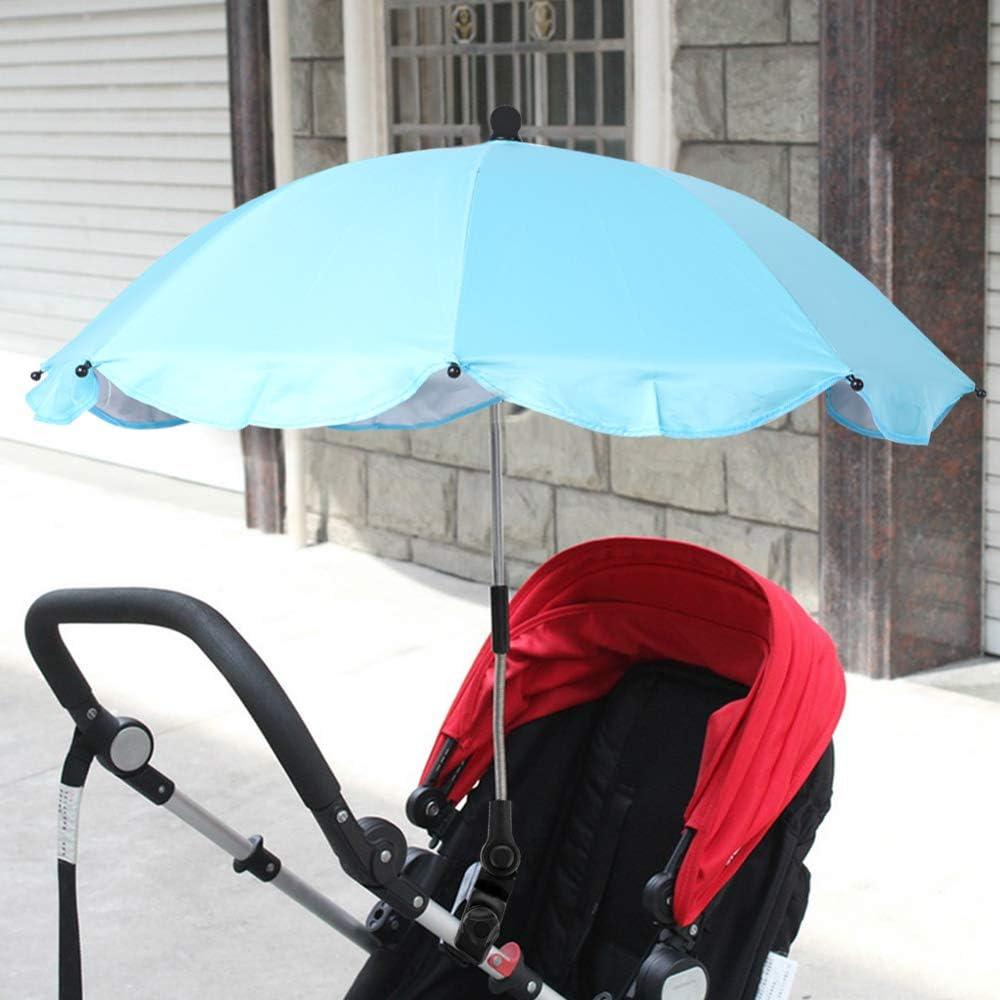 Qingjie Kinderwagen Regenschirm , Wasserdichter UV-Schutz Rollstuhl Kinderwagen Regenschirm , Sonnenschirm f/ür Kinderwagen Regenschirm