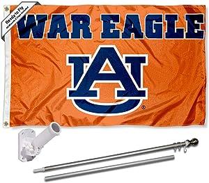 Auburn War Eagle Flag and Pole Bracket Mount Bundle