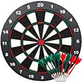 Ylovetoys Dart Board Soft Tip Safety Kids Dart Board Set Boys Toys Gifts for Boy Kid, 16.4 inch Rubber Dartboard with 9 Soft Tip Safe Darts Great Game for Office and Family Leisure Sport