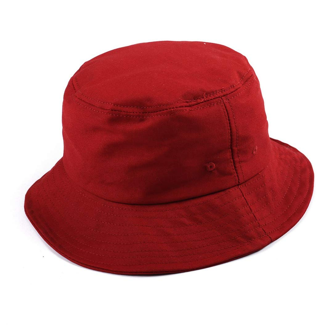 Womens Canvas Bucket Hat Fashion Packable Reversible Solid Color Fisherman Bucket Sun Hat