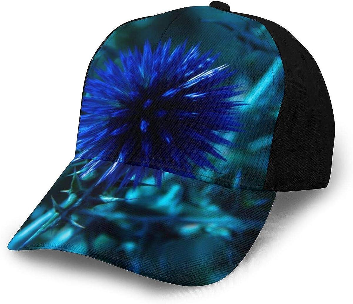 Blue Petaled Flower Classic Baseball Cap Men Women Dad Hat Twill Adjustable Size