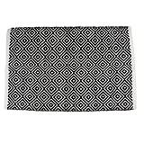 Kitchen Rugs Geometric DII Contemporary Reversible Area Rug for Kitchen, Livingroom, Entry Way, Laundry Room, Dorm Room, and Bedroom - 2 x 3-Feet, Black Diamond