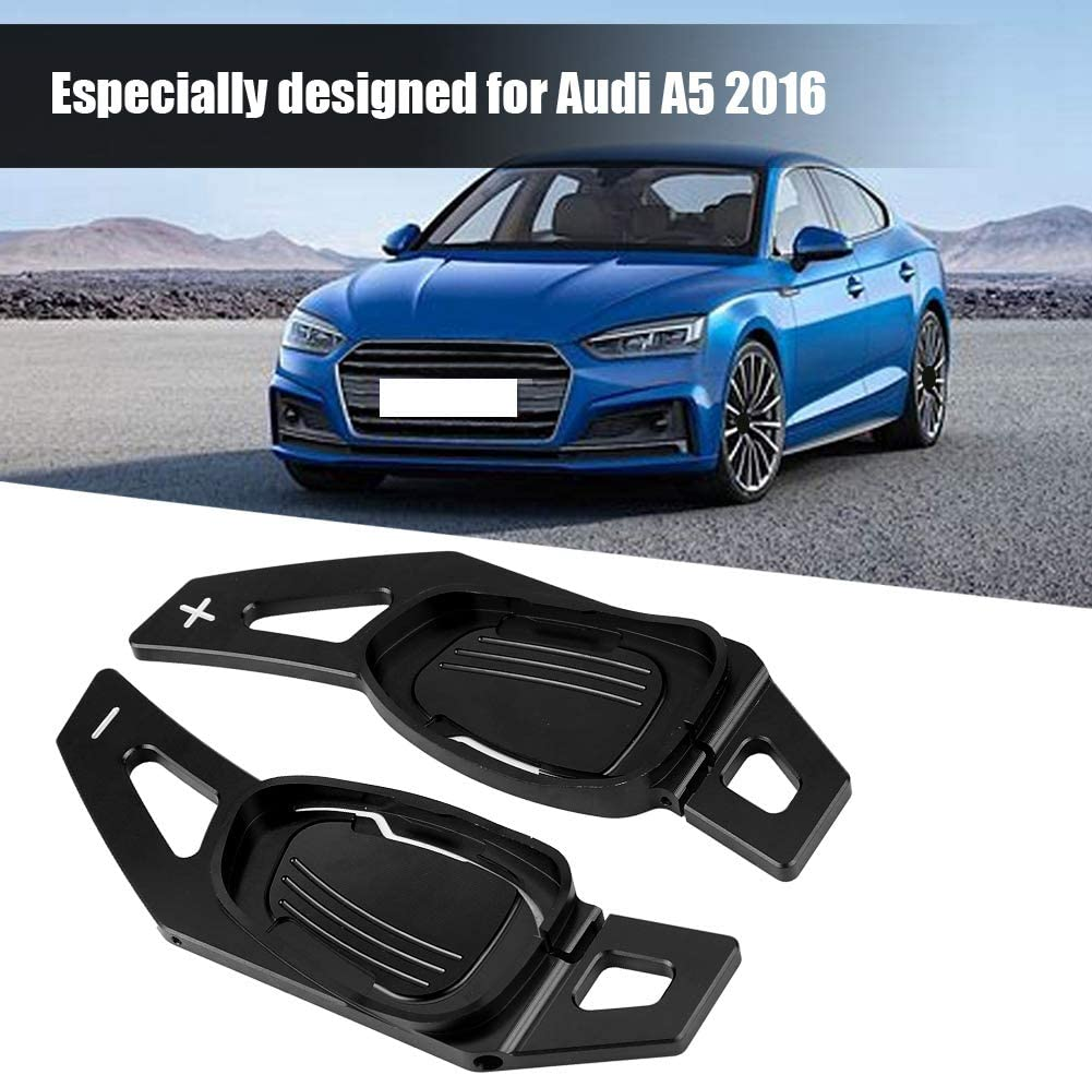 Qiilu Steering Wheel Shift Paddle Shifter Trim Cover for Audi A5 S3 S5 S6 SQ5 RS3 RS6 RS7