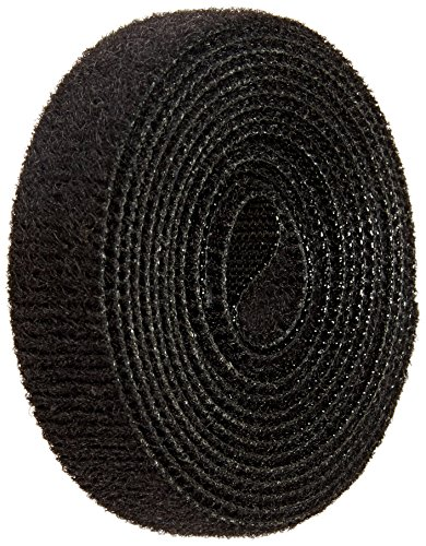VELCRO 1801-OW-PB/B Black Nylon Onewrap Velcro Strap, Hook and Loop, 1/2' Wide, 5' Length
