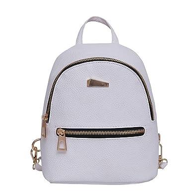 3260e6e145 Internet Femmes filles Cuir artificiel voyage sac à dos stries cartable sac  à dos à capuche