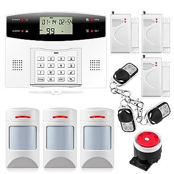 Fuers   G2 Kit Alarme Maison Sans Fil GSM/PSTN, Sirène, Détecteur De